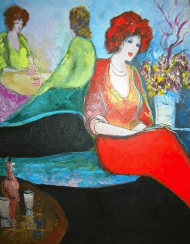 Juxtapose Painting By Kaitlyn Mooney